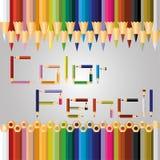 διάνυσμα χρώματος μολυβιών Στοκ φωτογραφίες με δικαίωμα ελεύθερης χρήσης