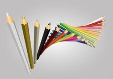 διάνυσμα χρώματος μολυβιών Στοκ εικόνες με δικαίωμα ελεύθερης χρήσης