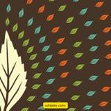 Διάνυσμα χρώματος φύλλων σχεδίων τυπωμένων υλών διανυσματική απεικόνιση