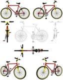 διάνυσμα 03 ποδηλάτων διανυσματική απεικόνιση