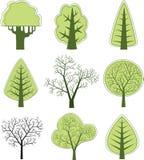 διάνυσμα 2 δέντρων Στοκ φωτογραφία με δικαίωμα ελεύθερης χρήσης