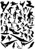 διάνυσμα 4 χαρτονιών αθλητ&io Στοκ Εικόνες