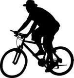 διάνυσμα bicyclist Στοκ φωτογραφίες με δικαίωμα ελεύθερης χρήσης