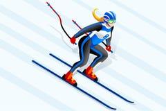 Διάνυσμα Clipart alpine skiing Στοκ φωτογραφία με δικαίωμα ελεύθερης χρήσης