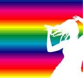διάνυσμα disco χορευτών Στοκ Εικόνα