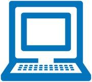 διάνυσμα PC εικονιδίων Στοκ Εικόνες