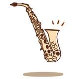 διάνυσμα saxophone Στοκ εικόνα με δικαίωμα ελεύθερης χρήσης