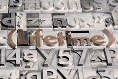 Διάρκεια ζωής μεταξύ άλλων τύπων Τύπων στοκ φωτογραφία