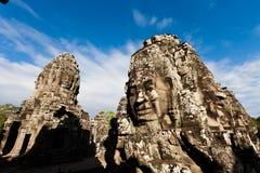 διάσημα επικεφαλής αγάλματα angkor wat Στοκ Εικόνα