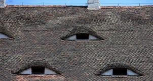 Διάσημα μάτια Στέγη με τα μάτι-όπως παράθυρα Στοκ φωτογραφίες με δικαίωμα ελεύθερης χρήσης