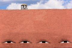Διάσημα μάτια Στέγη με τα μάτι-όπως παράθυρα Στοκ Φωτογραφία