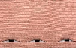 Διάσημα μάτια Στέγη με τα μάτι-όπως παράθυρα Στοκ φωτογραφία με δικαίωμα ελεύθερης χρήσης