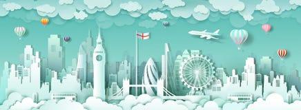 Διάσημα ορόσημα Ευρώπη του Λονδίνου Αγγλία ταξιδιού στοκ φωτογραφίες