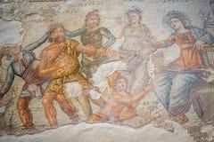 Διάσημα ρωμαϊκά μωσαϊκά της Πάφος, Κύπρος στοκ εικόνες