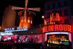 Διάσημα cabaret ρουζ Moulin και το θέατρο, Παρίσι, Γαλλία Στοκ Εικόνα