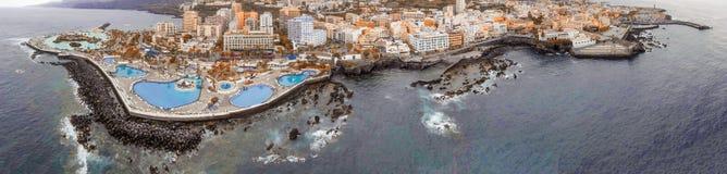 Διάσημες λίμνες Puerto de Λα Cruz, Tenerife Στοκ φωτογραφίες με δικαίωμα ελεύθερης χρήσης