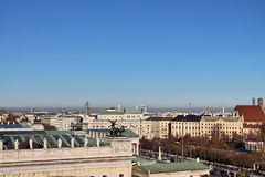 Διάσημες κτήρια και αρχιτεκτονική της Βιέννης στην Αυστρία Ευρώπη στοκ εικόνες