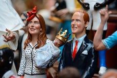 Διάσημες μαριονέτες από τη Νάπολη Στοκ Εικόνες