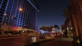 Διάσημες ξενοδοχείο και χαρτοπαικτική λέσχη Ballys στο Λας Βέγκας τη νύχτα - ΗΠΑ 2017 απόθεμα βίντεο