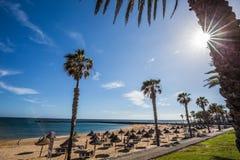 Διάσημες παραλίες Tenerife, Playa las Αμερική και Playas Del Camison Στοκ Εικόνες
