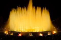 Διάσημες πηγές στο Plaza της Ισπανίας Βαρκελώνη Στοκ Εικόνα