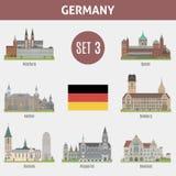 Διάσημες πόλεις θέσεων στη Γερμανία ελεύθερη απεικόνιση δικαιώματος