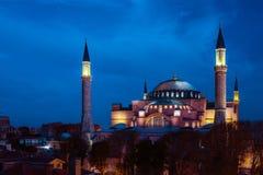 Διάσημη άποψη νύχτας καθεδρικών ναών της Sophia Στοκ εικόνες με δικαίωμα ελεύθερης χρήσης