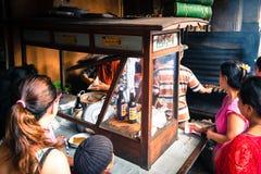 Διάσημη αγορά Ubud, Μπαλί στοκ φωτογραφία