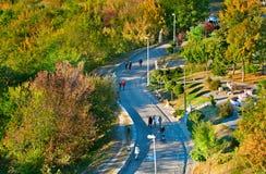 Διάσημη αλέα τοπίων Κίεβο, Ουκρανία Στοκ φωτογραφία με δικαίωμα ελεύθερης χρήσης