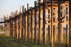Διάσημη γέφυρα σε Amarapura Στοκ Εικόνα