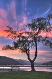 διάσημη εαρινή όψη λιμνών harrison κ&alph Στοκ Φωτογραφία