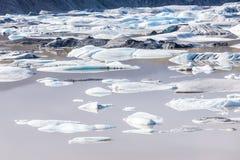 Διάσημη λιμνοθάλασσα πάγου Jokulsarlon, Ισλανδία Στοκ εικόνα με δικαίωμα ελεύθερης χρήσης