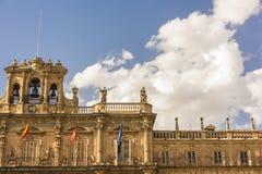 Διάσημη και ιστορική λεπτομέρεια δημάρχου Plaza σε Σαλαμάνκα, Καστίλλη Υ Leon, Ισπανία Στοκ Εικόνες