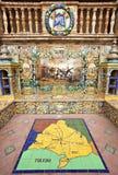 Διάσημη κεραμική διακόσμηση Plaza de Espana, Σεβίλλη, Ισπανία. Θέμα της Μαδρίτης. Στοκ φωτογραφία με δικαίωμα ελεύθερης χρήσης