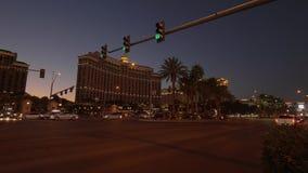 Διάσημη λεωφόρος του Λας Βέγκας τη νύχτα - ΗΠΑ 2017 απόθεμα βίντεο