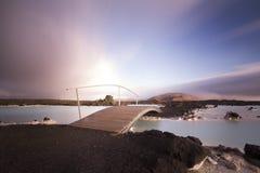 Διάσημη μπλε λιμνοθάλασσα στην Ισλανδία Στοκ εικόνες με δικαίωμα ελεύθερης χρήσης