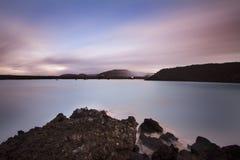 Διάσημη μπλε λιμνοθάλασσα στην Ισλανδία Στοκ φωτογραφία με δικαίωμα ελεύθερης χρήσης