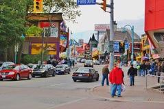 Διάσημη οδός λόφων του Clifton στους καταρράκτες του Νιαγάρα, Καναδάς Στοκ εικόνα με δικαίωμα ελεύθερης χρήσης