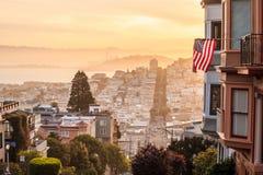 Διάσημη οδός Lombard στο Σαν Φρανσίσκο Στοκ Εικόνες