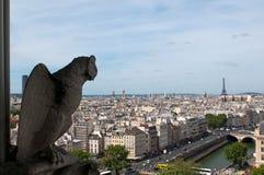 διάσημη παράβλεψη Παρίσι χι& Στοκ Εικόνα