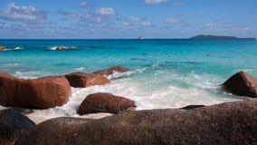 Διάσημη παραλία Anse Λάτσιο σε Praslin Σεϋχέλλες Στοκ φωτογραφίες με δικαίωμα ελεύθερης χρήσης