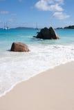 Διάσημη παραλία Anse Λάτσιο σε Praslin Σεϋχέλλες Στοκ Εικόνες