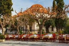 Διάσημη περιοχή Placa στην Αθήνα, Ελλάδα Στοκ Εικόνες