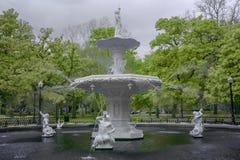 Διάσημη πηγή στο πάρκο Forsyth Στοκ Εικόνα