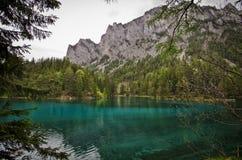 Διάσημη πράσινη λίμνη - Gruener δείτε - στην Αυστρία στοκ εικόνα