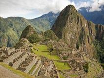 Διάσημη πόλη Machu Picchu Inca Στοκ φωτογραφία με δικαίωμα ελεύθερης χρήσης