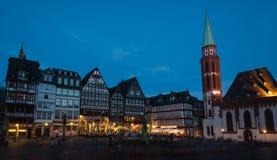 Διάσημη πλατεία Romerberg πόλεων της Φρανκφούρτης στη Γερμανία Στοκ εικόνες με δικαίωμα ελεύθερης χρήσης