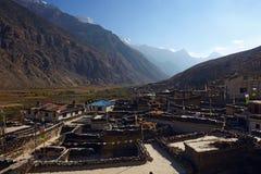 Διάσημη τουριστική θέση - χωριό Marfa στο οδοιπορικό Annapurna Στοκ φωτογραφία με δικαίωμα ελεύθερης χρήσης