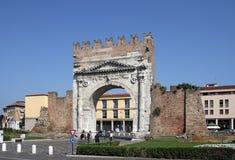 Διάσημη Arco Di Augusto πύλη Rimini Στοκ Εικόνες