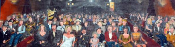 Διάσημοι είστε η τοιχογραφία αστεριών Στοκ Εικόνα